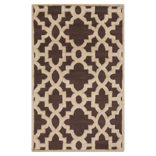 Candice Olson Rugs Modern Classics Dark Chocolate Area Rug
