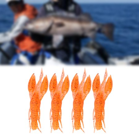 Soft Crawfish,Ymiko 4pcs 6 Colors Silicone Soft Fishing Crawfish Artificial Lures Bait For Carp Bass