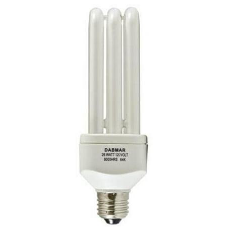 B26-64K CFL Medium Base Self Ballasted Electronic 26 watt 120 V 64K Lamp, White (Electronic Self Ballasted)