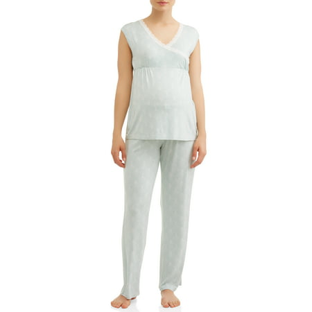 Nurture by LamazeMaternity nursing sleeveless top and pants sleep set
