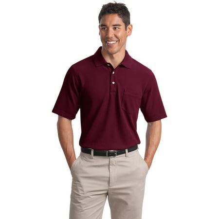 Port authority k800p men 39 s ezcare pocket polo shirt for Mens 5x polo shirts
