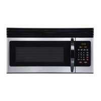 Black+Decker EM044KIN-P 1.6-Cu. Ft. Over-the-Range Microwave with Top Mount Air Recirculation Vent, Stainless Steel