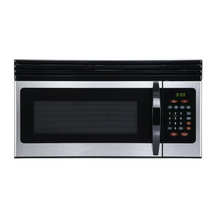 Black+Decker EM044KIN-P 1.6-Cu. Ft. Over-the-Range Microwave with Top Mount Air Recirculation Vent, Stainless (Over The Range Microwave With Vent Fan)