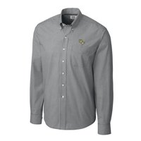 UCF Knights Cutter & Buck Gingham Button-Down Long Sleeve Shirt - Charcoal