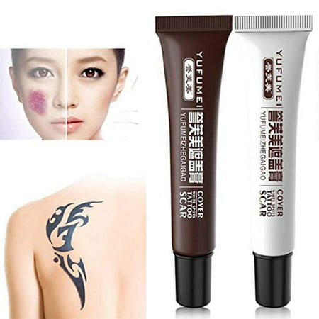 Yosoo Concealer To Cover Tattoo/Scar / Birthmarks/Vitiligo, Professional Waterproof Tattoos Cover Up Makeup Concealer Set, Dark Spots Concealer Kit (2