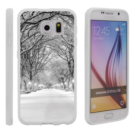 Samsung Galaxy S6 G920, Flexible Case [FLEX FORCE] Slim Durable TPU Sleek Bumper with Unique Designs - Winter