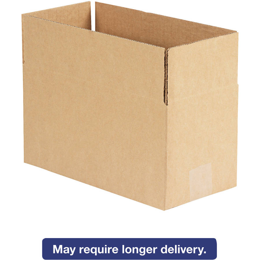 "General Supply Brown Corrugated - Fixed-Depth Shipping Boxes, 12l"" x 6""W x 6""H, 25/Bundle"