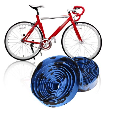Cheers 2Pcs Cycling Road Bike Sports Bicycle Handlebar Rubber Tape Wrap with 2 Bar Plug - image 7 de 7