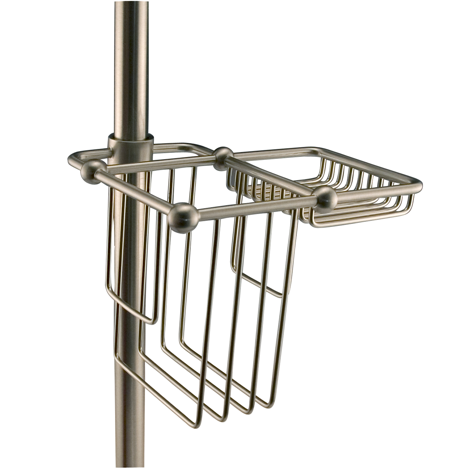 BC2000-CP Bath Caddy for Shower Riser Polished Chrome - Walmart.com