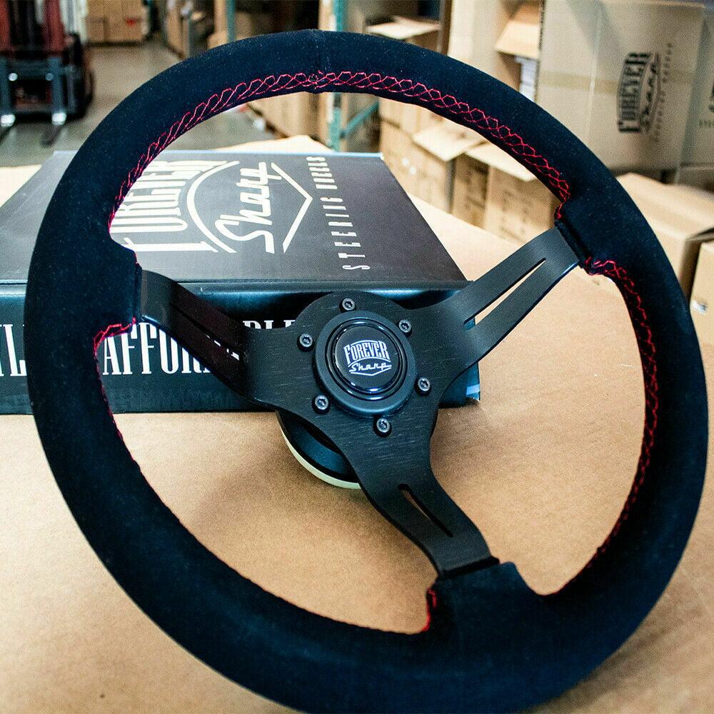Black Suede Steering Wheel For Acura RSX ALL TL 97+ Honda