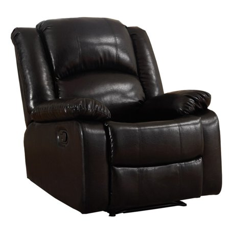 NH Designs Bonded Leather Glider Recliner - Leather Like Glider Recliner