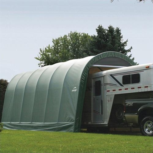 14' x 24' x 12' Round Style Shelter, Green