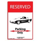 Seaweed Surf Co AA94 12X18 Aluminum Sign Corvette Parking Only
