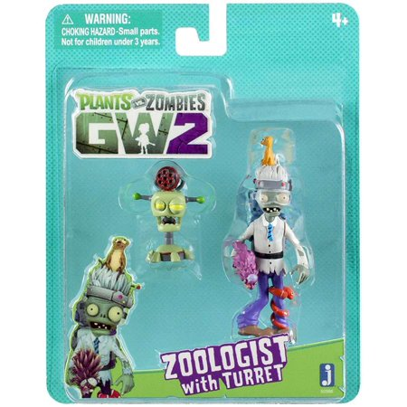 Plants vs. Zombies Garden Warfare 2 Zoologist with Turret Figure -