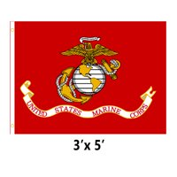 U.S. Marine Corps Military Flag 3 x 5 USMC Print Brass Grommets Indoor Outdoor