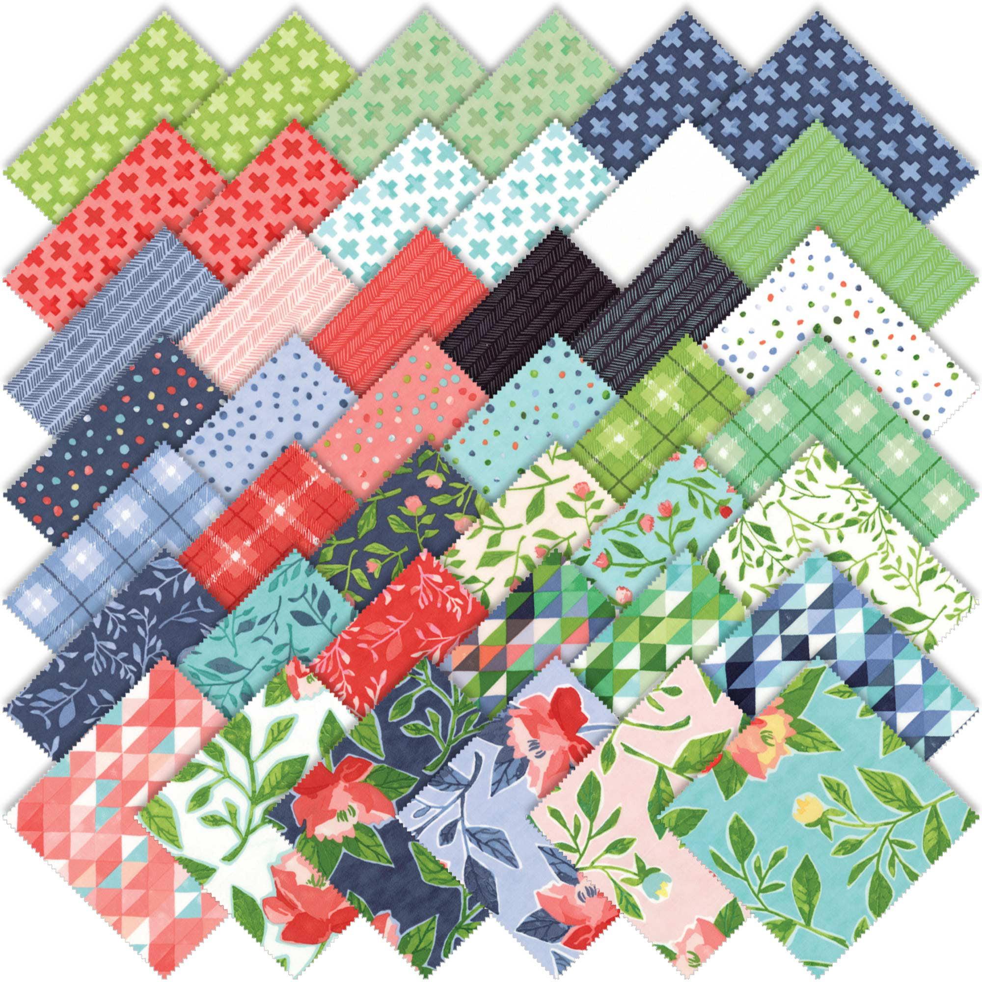 15 oz Cotton Fabric Squares Bundle
