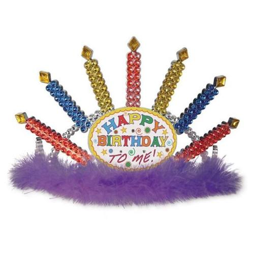 Plastic Light-Up Happy Birthday Tiara - 6 Pack Case Pack 6