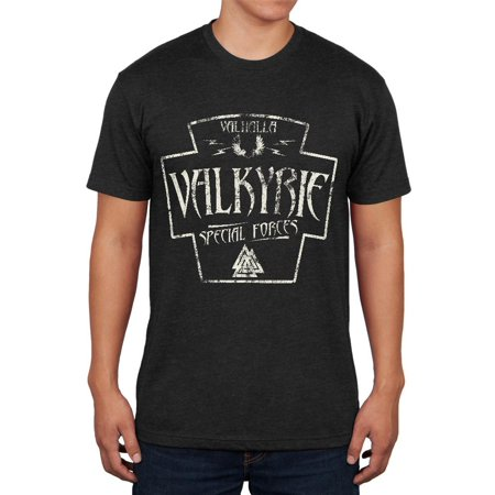 Valkyrie Valhalla Special Forces Retro Vintage Mens Soft T -