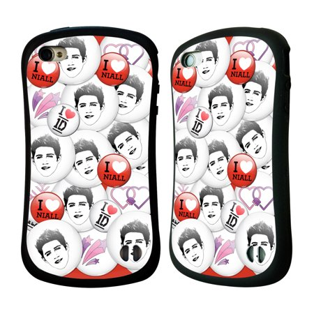 OFFICIAL ONE DIRECTION BUTTON PINS HYBRID CASE FOR APPLE IPHONES PHONES