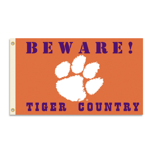 Bsi Products Inc Clemson Tigers Flag with Grommets - Country Flag with Grommets