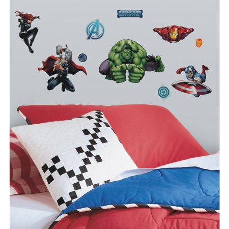 New AVENGERS ASSEMBLE Marvel Superheroes 28 Wall Decals Boys Room Decor Stickers (Avengers Decor)