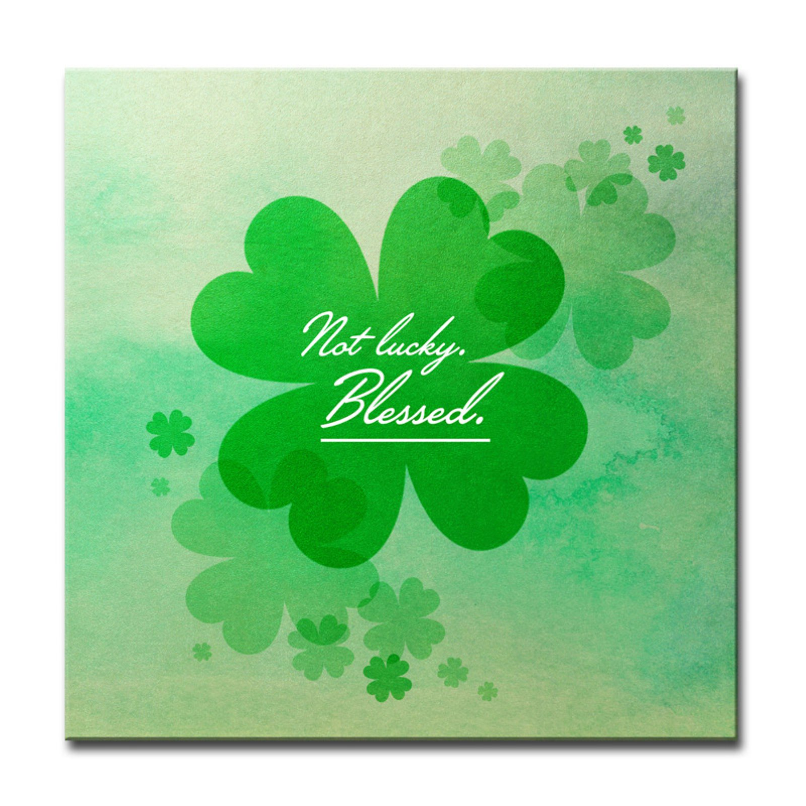 Ready2HangArt Not Lucky Blessed Wrapped Canvas Wall Art