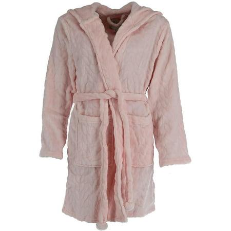 Women's Plush Hooded Short Robe