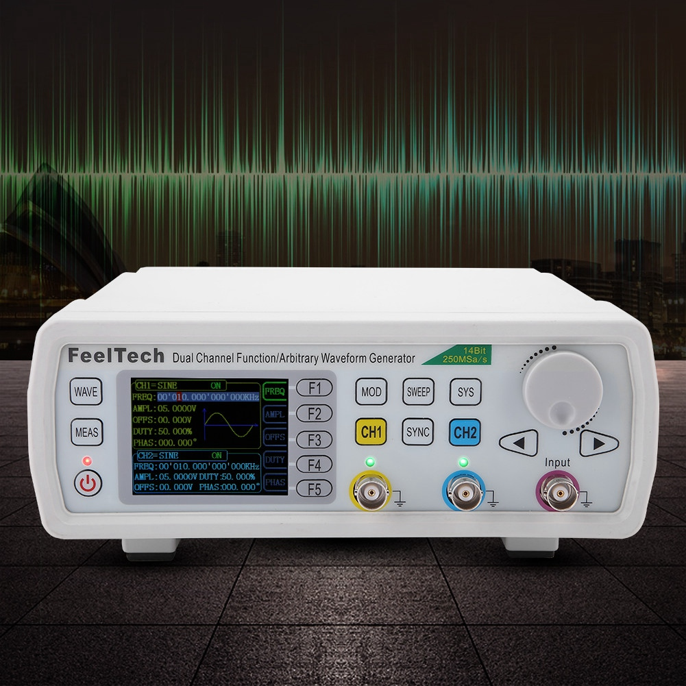 FeelTech FY6600 2-CH DDS Function Arbitrary Waveform Pulse Signal Generator VCO