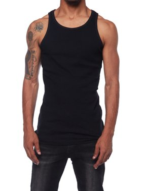 d37d0e4c064e3 Product Image Mens Premuim Basic Cotton Workout Ribbed Muscle Tank Top DT09  (S