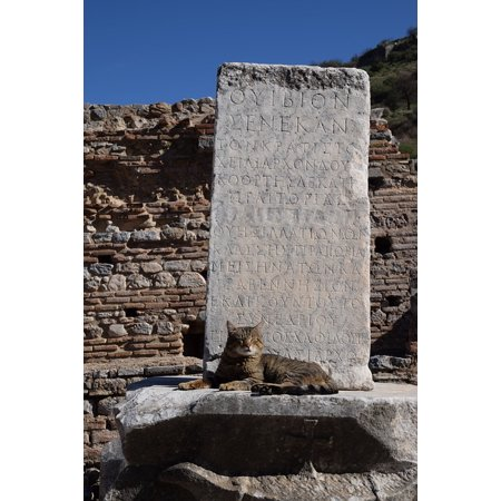 LAMINATED POSTER Code Protection Archaeology Ephesus Pillar Secret Poster Print 24 x 36
