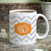 Personalized Chevron Monogram Coffee Mug