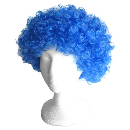 SeasonsTrading Economy Blue Afro Wig - Halloween Costume Party Wig](Costume Blue Wig)