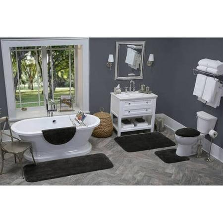 Better Homes And Gardens Extra Soft Bath Rug Collection Walmartcom - Black contour rug for bathroom decorating ideas