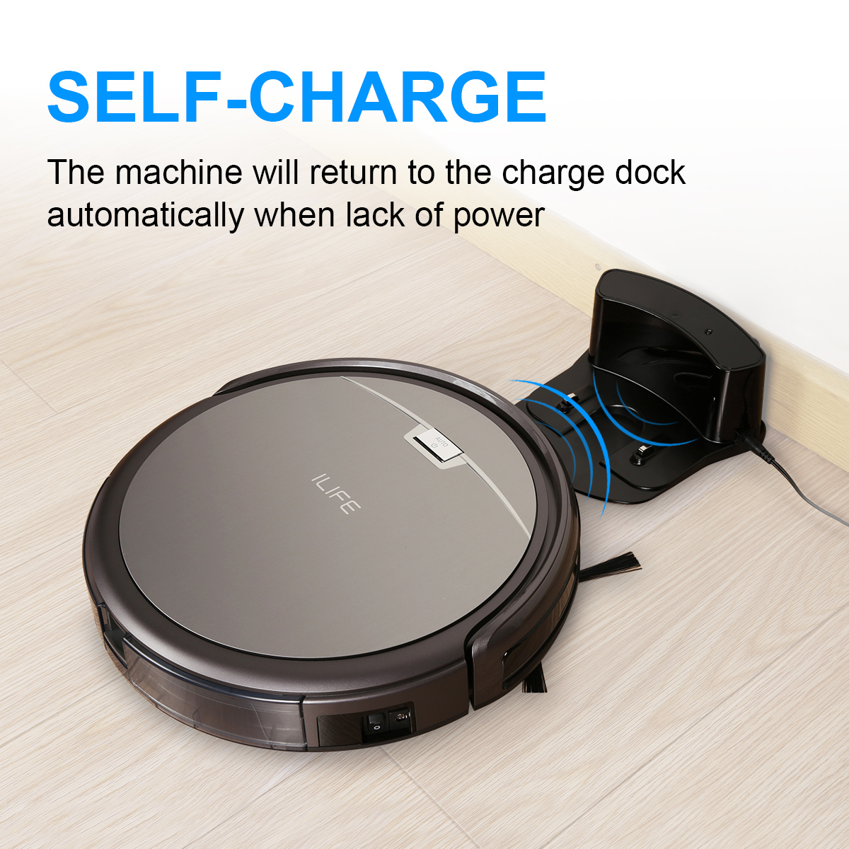 ILIFE A4S Robotic Vacuum Cleane Smart Auto Robot Floor Cleaning Sweeper for Pets Hard Carpets,hard floor