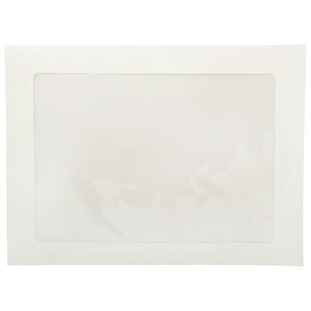 JAM 9 x 12 Booklet Window Envelopes, White, 25/Pack ()