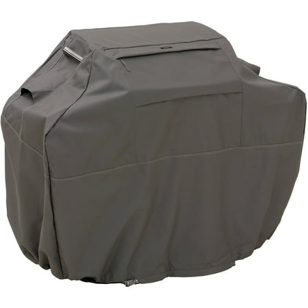 """Classic Accessories Ravenna Barbecue BBQ Grill Patio Storage Cover, X-Large, Fits Grills up to 70"""", Taupe"""
