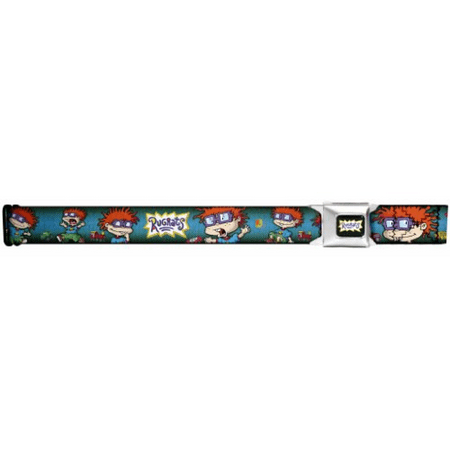 Rugrats Cartoon Seatbelt Belt - Chuckie Finster Expressions Repeating