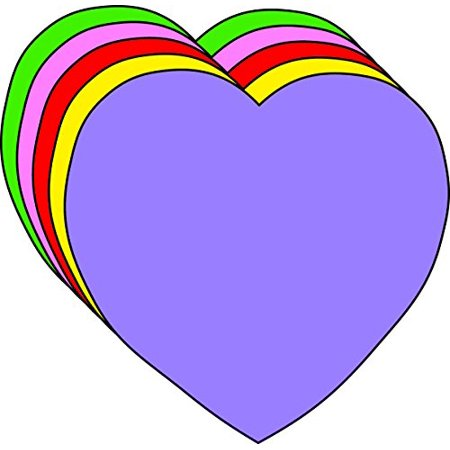 Heart Small Assorted Color Creative Cut-Outs