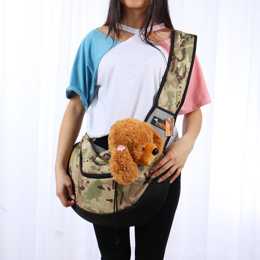 Onding Authorized Pet Dog Carrier Single Shoulder Backpack Army Green Camo - image 3 of 8