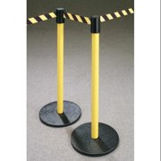 GLARO 172-RD STRAP Barrier Post with Belt, 40 In. H