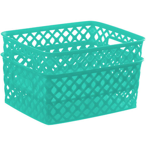 Mainstays Small Deco Basket, 2pk