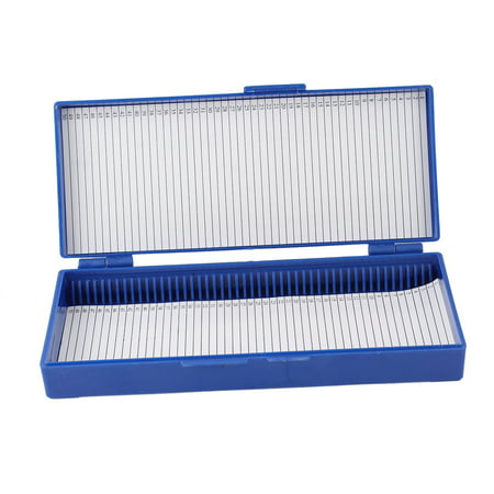 Unique Bargains Royal Blue Plastic Lined Sheet Glass Microslide Microscope Box for Slide - Containers For Sweets