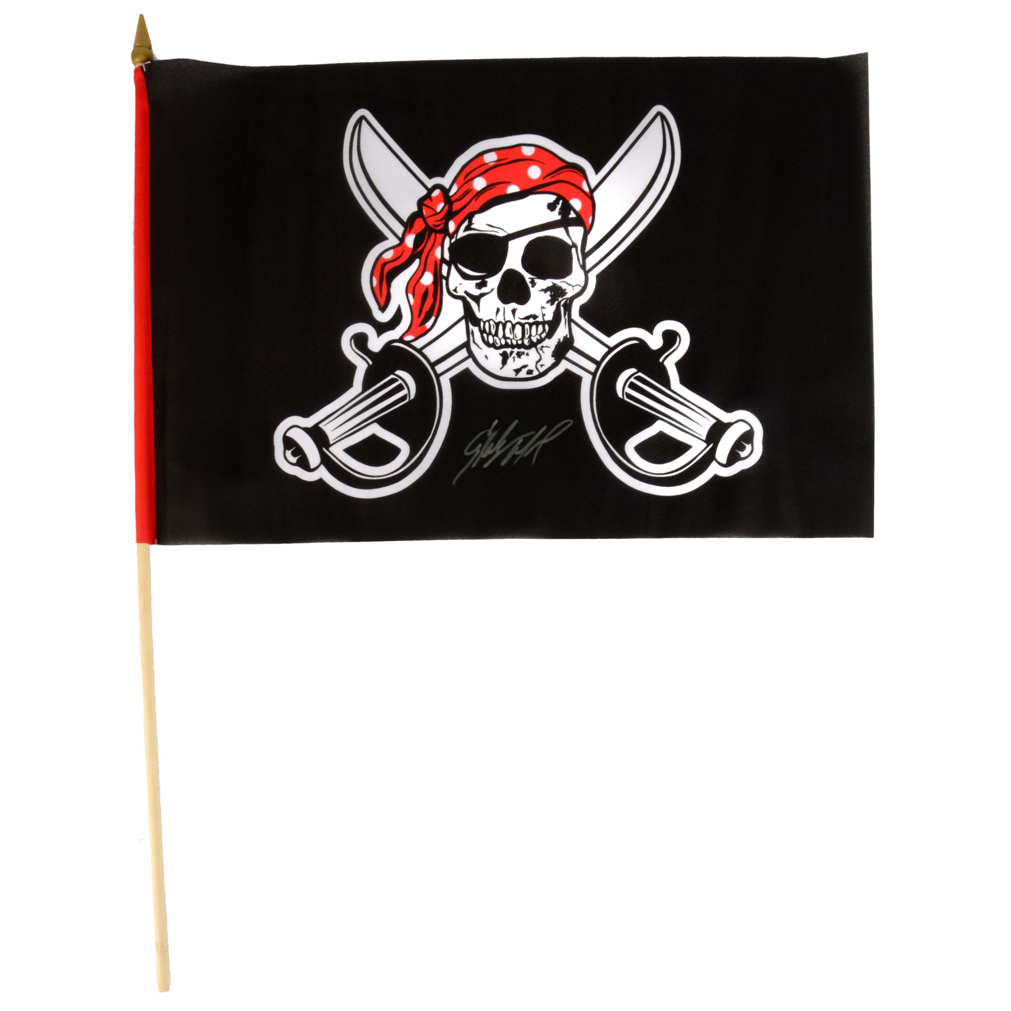 Starling Marte Pittsburgh Pirates Fanatics Authentic Autographed Jolly Roger Flag - No Size