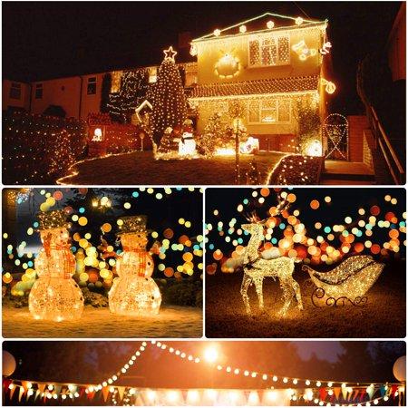 Morpilot Solar String Lights, 33ft 200LED Outdoor String Lights, Waterproof Decorative String Lights for Patio, Garden, Gate, Yard, Party, Wedding,... ()