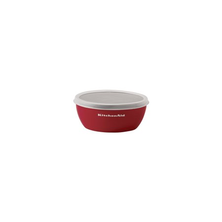 KitchenAid 4-Piece Prep Bowl Set with Lids, Assorted Sizes and Colors: Red, Grey, White