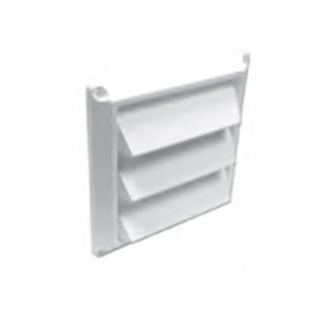 Lambro 608W 8 in. White Plastic Louvered Vent - Pack of 6 - image 1 of 1