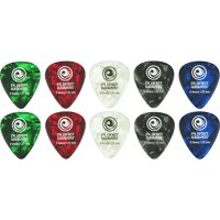 D'Addario Planet Waves Standard Celluloid Pearl Picks Assorted 10-Pack Xtra Heavy