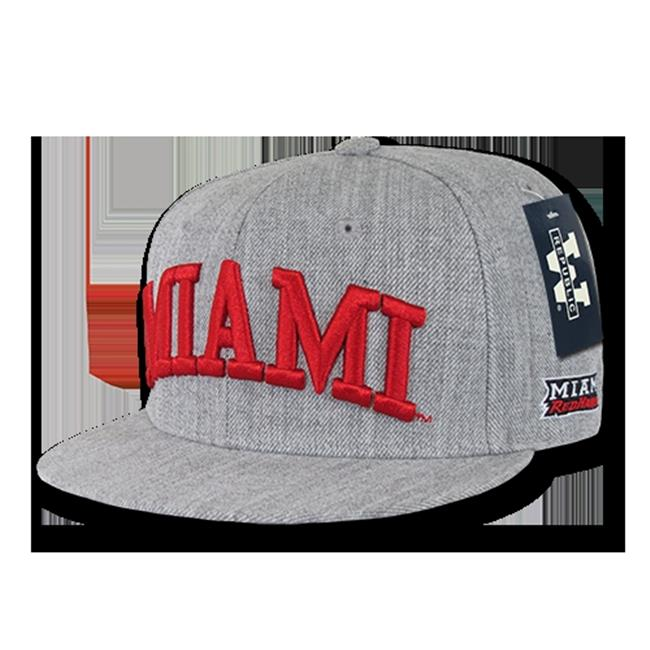 W Republic Game Day Snapback Miami University, Heather Grey