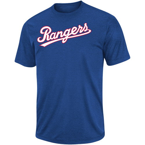 MLB Men's Texas Rangers Short Sleeve Synthetic Tee