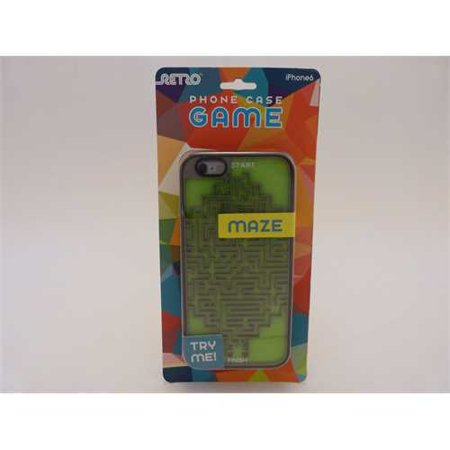 Retro Maze Game Phone Back Cover Case - iPhone 6 - Green/Gray